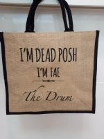 Dead Posh Large Jute Bag - The Drum